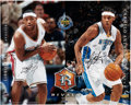 Basketball Collectibles:Others, LeBron James And Carmelo Anthony UDA Dual-Signed OversizedPhotograph. ...