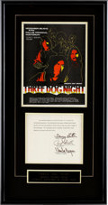 Music Memorabilia:Autographs and Signed Items, Three Dog Night Band Autographs Display....