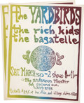 Music Memorabilia:Autographs and Signed Items, The Yardbirds Anderson Theater Handbill Group (1968).... (Total: 3Items)