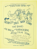 Music Memorabilia:Posters, Crosby Stills Nash & Young Oakland Stadium Second Show ConcertPoster (Bill Graham, 1974)....