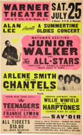 Music Memorabilia:Posters, Junior Walker and the All-Stars Warner Theatre Concert Poster (Alan Lee, 1981)....