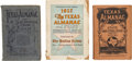 Books:Periodicals, Three Texas Almanacs: 1904, 1911, 1927. First published in1857, the Texas Almanac and State Industrial Guide... (Total: 3Items)