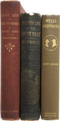 Books:First Editions, Three Books on the American West, including: Andy Adams. WellsBrothers, the Young Cattle Kings. Boston: Houghto... (Total: 3Items)