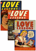 Golden Age (1938-1955):Romance, Love Lessons #1-5 Group (Harvey, 1949-50) Condition: AverageVF/NM.... (Total: 5 Comic Books)