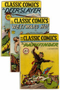 Golden Age (1938-1955):Classics Illustrated, Classic Comics/Classics Illustrated Group (Gilberton, 1944-60)....(Total: 6 Comic Books)