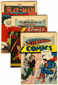 Golden Age (1938-1955):Miscellaneous, Assorted Remaindered Golden Age Comics Group (Various Publishers, 1945-46) Condition: Average PR.... (Total: 10 Comic Books)