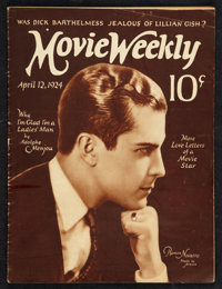 "Movie Weekly (April 12, 1924). Magazine (31 Pages, 9.25"" X 12.25""). Miscellaneous"