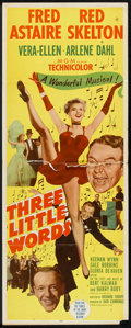 """Movie Posters:Musical, Three Little Words (MGM, 1950). Insert (14"""" X 36""""). Musical.. ..."""
