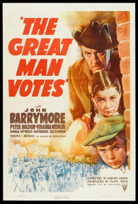 "The Great Man Votes (RKO, 1939). One Sheet (27"" X 41""). Drama"