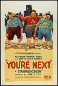 "Movie Posters:Comedy, You're Next (FBO, 1927). One Sheet (27"" X 41""). Comedy.. ..."