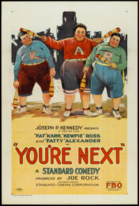 "You're Next (FBO, 1927). One Sheet (27"" X 41""). Comedy"