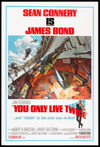 "You Only Live Twice (United Artists, 1967). One Sheet (27"" X 41"") Style A. James Bond"