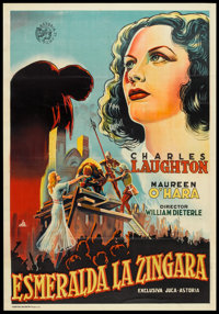 "The Hunchback of Notre Dame (Astoria, 1939). Spanish One Sheet (27.5"" X 41""). Horror"