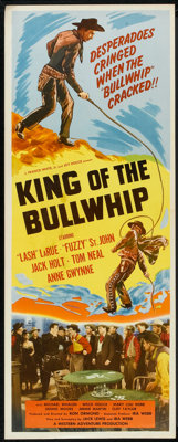 """King of the Bullwhip (Western Adventures Pictures, 1950). Insert (14"""" X 36""""). Western"""