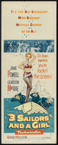 """Movie Posters:Musical, 3 Sailors and a Girl (Warner Brothers, 1954). Insert (14"""" X 36""""), Lobby Card (11"""" X 14""""), and Photos (5) (8"""" X 10""""). Musical... (Total: 7 Items)"""