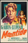 "Movie Posters:Drama, Moontide (20th Century Fox, 1942). One Sheet (27"" X 41""). Drama.. ..."