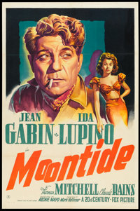 "Moontide (20th Century Fox, 1942). One Sheet (27"" X 41""). Drama"