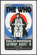 """Movie Posters:Rock and Roll, The Who in Concert (August 16, 1997). Serigraph Poster (23"""" X 35""""). Rock and Roll.. ..."""
