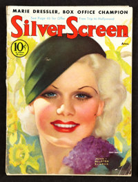 "Silver Screen Magazine (April,1933). (Multiple Pages)(8.5"" X 11.5""). Miscellaneous"