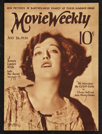 """Movie Weekly (July 26, 1924). Magazine (31 Pages, 9.25"""" X 12.25""""). Miscellaneous"""