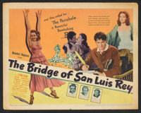 """The Bridge of San Luis Rey (United Artists, 1944). Title Lobby Card and Lobby Cards (2) (11"""" X 14""""). Drama..."""