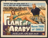 """Flame of Araby Lot (Universal International, 1951). Title Lobby Card and Lobby Card (11"""" X 14""""). Adventure..."""
