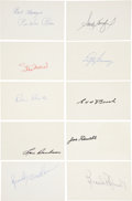 Autographs:Index Cards, Baseball Hall of Famers Signed Index Cards Lot of 10....