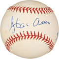 Autographs:Baseballs, Hank Aaron Signed and Numbered Jackie Robinson CommemorativeBaseball....