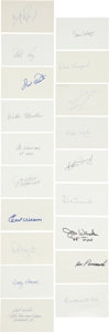Autographs:Others, Baseball Signed Miscellaneous Lot of Index Cards Cachets, andPostcards Lot Of 28....