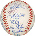 Autographs:Baseballs, 1991 Oakland Athletics Team Signed Baseball. ...