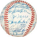 Autographs:Baseballs, 1980's Cracker Jack Old Timers Game Signed Baseball....