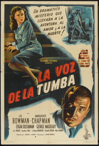 "The Walls Came Tumbling Down (Columbia, 1946). Argentinean Poster (29"" X 43""). Mystery"