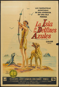 """Island of the Blue Dolphins (Universal International, 1964). Argentinean Poster (29"""" X 43""""). Drama"""