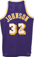 Basketball Collectibles:Others, Magic Johnson Signed Jersey. ...