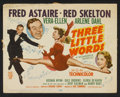 """Movie Posters:Musical, Three Little Words (MGM, 1950). Title Lobby Card and Lobby Cards (5) (11"""" X 14""""). Musical.. ... (Total: 6 Items)"""