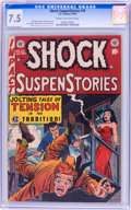 Golden Age (1938-1955):Horror, Shock SuspenStories #10 (EC, 1953) CGC VF- 7.5 Cream to off-whitepages....