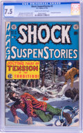 Golden Age (1938-1955):Horror, Shock SuspenStories #3 (EC, 1952) CGC VF- 7.5 Cream to off-whitepages....