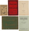 Books:Pamphlets & Tracts, [Galveston] Five Items, including: E. G. Cain, compiler. Visitors Guide City of Galveston, Texas. E. G. Cain Blu... (Total: 5 Items)