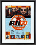 Music Memorabilia:Autographs and Signed Items, Beatles Related - Ringo and His All-Starr Band Signed TourPoster....