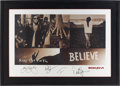 Music Memorabilia:Autographs and Signed Items, Bon Jovi Band-Signed Keep the Faith Poster....