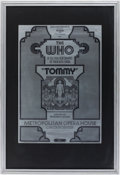 Music Memorabilia:Posters, The Who Tommy Metropolitan Opera House Concert Poster(Nathan Weiss, 1970)....