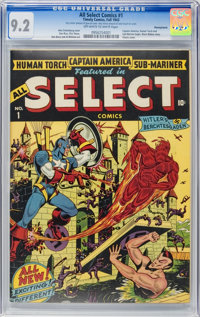 All Select Comics #1 Pennsylvania pedigree (Timely, 1943) CGC NM- 9.2 Off-white to white pages
