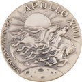 Explorers:Space Exploration, Apollo 13 Flown Silver Robbins Medallion Directly from the PersonalCollection of Backup Crew Commander John Young, Serial Num...