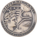 Explorers:Space Exploration, Apollo 17 Unflown Silver Robbins Medallion Directly from thePersonal Collection of Backup Crew Commander John Young, SerialN...
