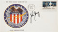 Autographs:Celebrities, Apollo 16 Official Launch Cover Directly from the PersonalCollection of Mission Commander John Young, Certified andSigned....