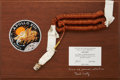 Explorers:Space Exploration, Apollo 13 Flown Utility Light Cord on Plaque Presented by the Crewto Astronaut Paul Weitz, Directly from his Personal Collect...