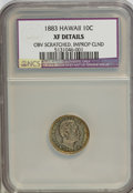 Coins of Hawaii: , 1883 10C Hawaii Ten Cents--Improperly Cleaned, ObverseScratched--NCS. XF Details. NGC Census: (22/223). PCGS Population(4...