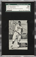 Baseball Cards:Singles (1930-1939), 1933-36 Zeenut PCL Joe DiMaggio, Throwing-Without Coupon SGC 30Good 2....
