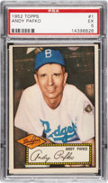 Baseball Cards:Singles (1950-1959), 1952 Topps Andy Pafko #1 PSA EX 5....
