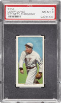 Baseball Cards:Singles (Pre-1930), 1909-11 T206 Larry Doyle Throwing PSA NM-MT 8, Highest GradedKnown....